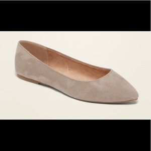 NWT Old Navy Faux-Suede Pointy Ballet Flats